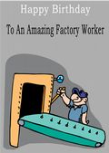 Factory Worker - Greeting Card